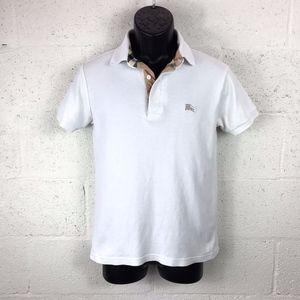 Burberry Brit White Polo Shirt 100% Cotton Size: S